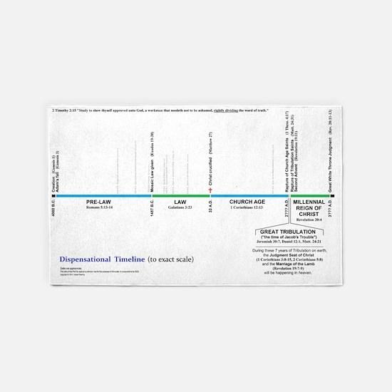 Dispensational Bible Timeline 3'x5' Area Rug