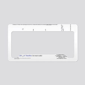 Dispensational Bible Timeline License Plate Holder