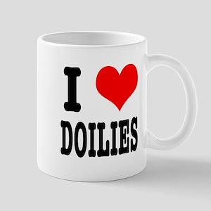 I Heart (Love) Doilies Mug