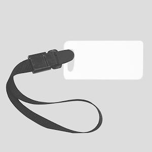 MUAJ TIAG™ LOGO: White Small Luggage Tag