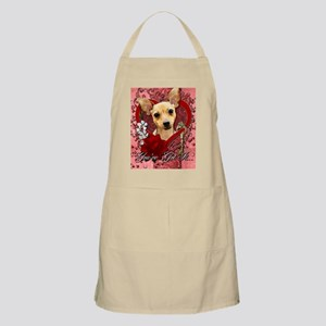 Valentines - Key to My Heart - Chihuahua Apron