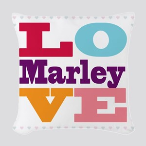 I Love Marley Woven Throw Pillow