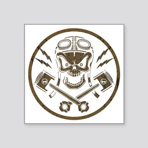 "piston-pistoff2-gold-T Square Sticker 3"" x 3"""