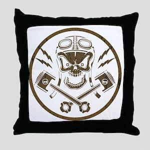 piston-pistoff2-gold-T Throw Pillow