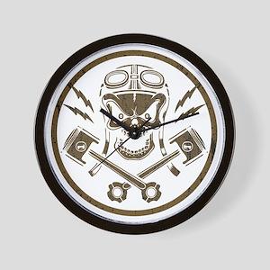 piston-pistoff2-gold-T Wall Clock