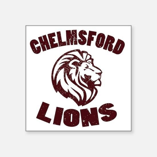 "Chelmsford Lions Square Sticker 3"" x 3"""