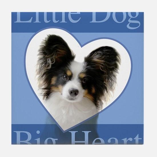 Little Dog Big Heart Tile Coaster
