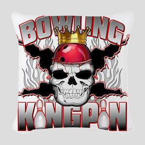 Bowling Kingpin Woven Throw Pillow