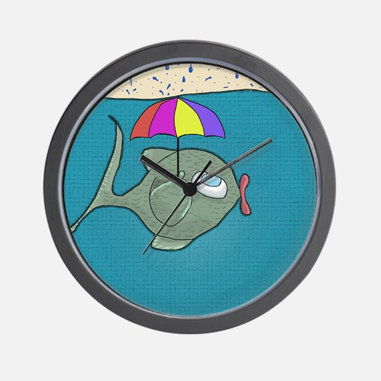 Funny Fishing Wall Clock