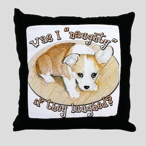 Was I bad Sad Dott Throw Pillow