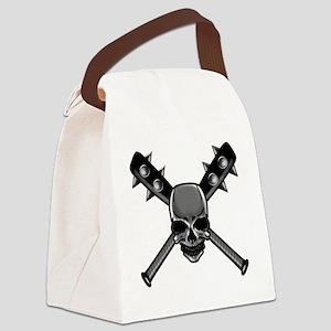 SkullCrossbats copy Canvas Lunch Bag