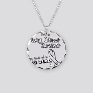 Lung Cancer Survivors ARE a  Necklace Circle Charm