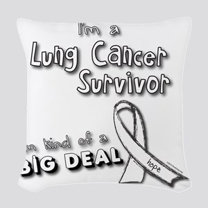 Lung Cancer Survivors ARE a bi Woven Throw Pillow