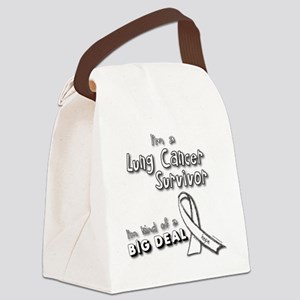 Lung Cancer Survivors ARE a big d Canvas Lunch Bag
