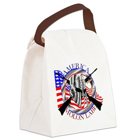 Molon Labe America 2nd Amendment Canvas Lunch Bag