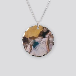 Edgar Degas Before The Rehea Necklace Circle Charm