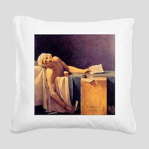 Jacques-Louis David Death Of  Square Canvas Pillow