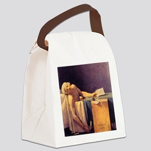Jacques-Louis David Death Of Mara Canvas Lunch Bag