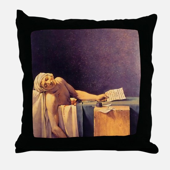 Jacques-Louis David Death Of Marat Throw Pillow