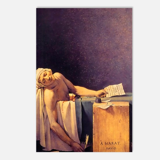 Jacques-Louis David Death Postcards (Package of 8)