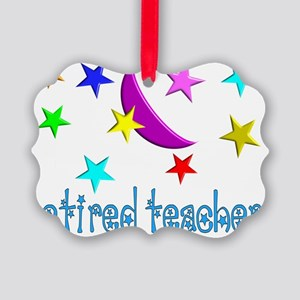 retired teacher pillow Picture Ornament