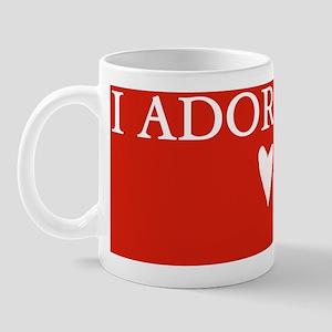 I Adore You with Heart Mug