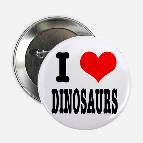 I Heart (Love) Dinosaurs Button
