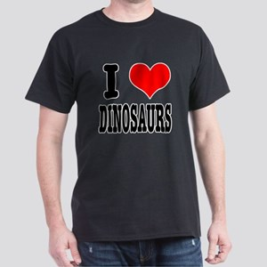 I Heart (Love) Dinosaurs Dark T-Shirt