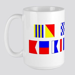 Go Navy Beat Army In Flags Large Mug
