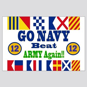 Go Navy Beat Army In Flags Large Poster