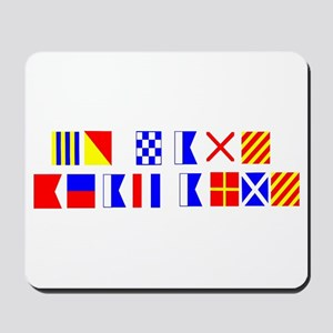 Go Navy Beat Army in Flags Mousepad