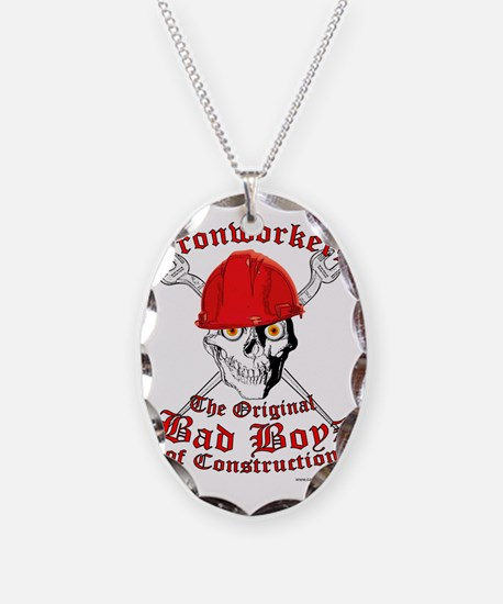 Ironworkers Skull Hardhat, Cro Necklace
