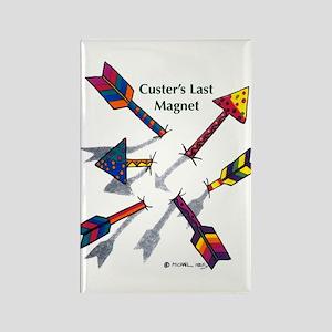 'Custer's Last Magnet' Rectangle Magnet