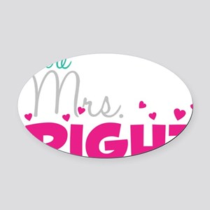 Future Mrs. Right (Grey) Oval Car Magnet