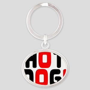 HOT DOG! Oval Keychain
