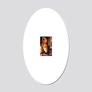 Albrecht Durer Self Portrait 20x12 Oval Wall Decal