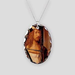 Albrecht Durer Self Portrait Necklace Oval Charm