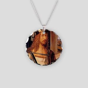 Albrecht Durer Self Portrait Necklace Circle Charm