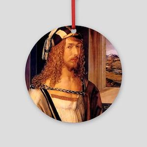Albrecht Durer Self Portrait Round Ornament