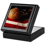 Football Square Keepsake Boxes