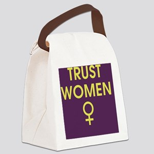 trust women Canvas Lunch Bag