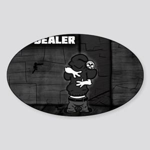 Hug Dealer Sticker (Oval)
