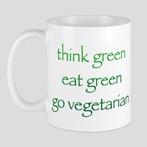 Think Green Vegetarian Mug