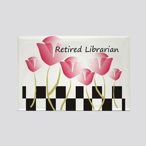 Retired Librarian Pillow 1 Rectangle Magnet