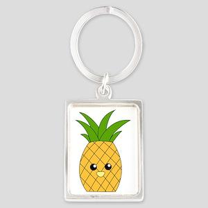 Pineapple Portrait Keychain