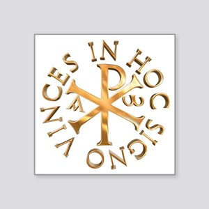 "Chi-Rho Square Sticker 3"" x 3"""