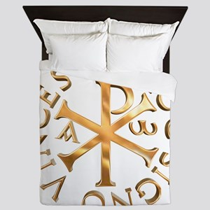 Chi-Rho Queen Duvet