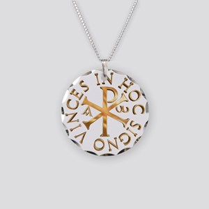 Chi-Rho Necklace Circle Charm