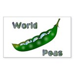 World Peas Rectangle Sticker