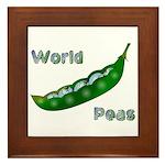 World Peas Framed Tile